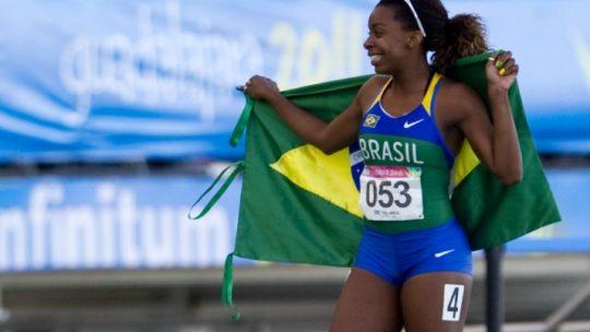 Rosângela Santos, bicampeã pan-americana, vence os 100 m e os 4×100 m nos JUBs