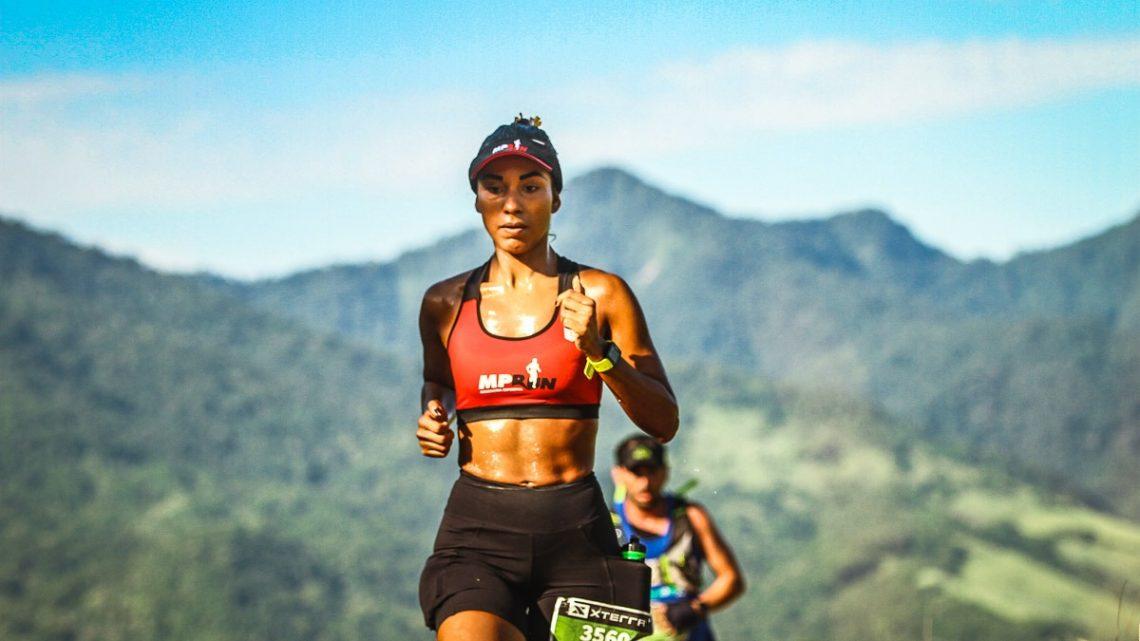 Depois de dois anos e meio de corrida, a primeira experiência trail de Evelyn Muniz